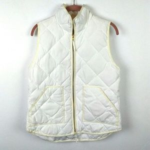 J.Crew | White quilted vest size Small